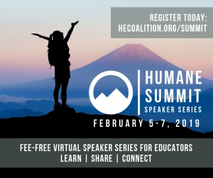 Humane Education Coalition Launches Fee-Free Virtual Speaker Series, the Humane Summit