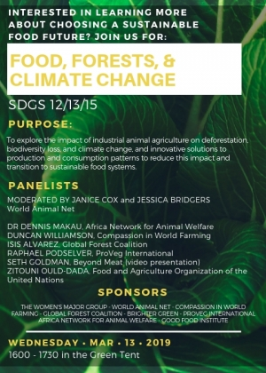 UN Environment Assembly Side Event to Cover Sustainable and Humane Food Systems