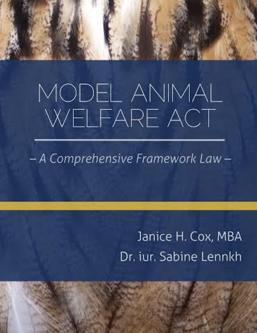 WAN Announces New Model Animal Welfare Act